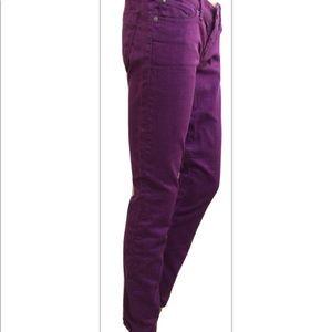 Express Jeans legging women's Sz 4 denim purple